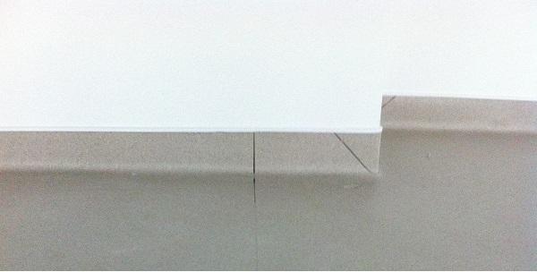 Remontée en plinthe angle Pacasol