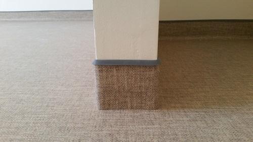 Pose en remontée en plinthe angle de revêtement de sol PVC - Pacasol