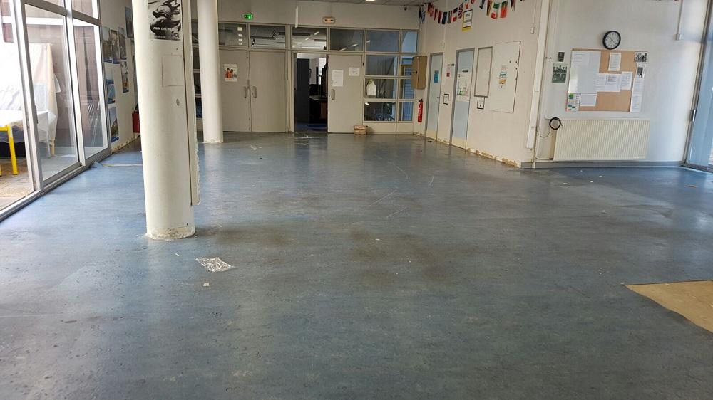 Ancien revêtement de sol en lino Lycée Toulon