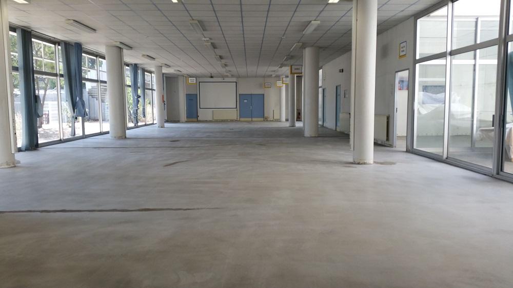 Opération de ragréage Lycée Toulon